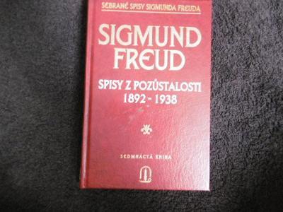 SIGMUND FREUD SPISY Z POZŮSTALOSTI 1892/1938 (1996)