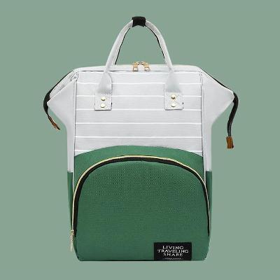 Pruhovaný batoh s barevnou kapsou 342