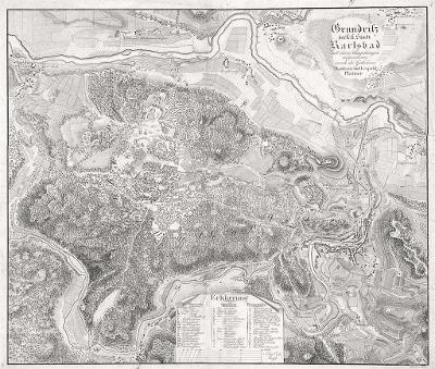 Karlovy Vary, Platzer, mědiryt , 1820