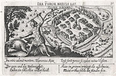 Plzeň, Meissner, mědiryt, 1678