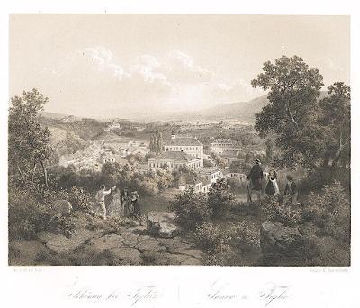 Teplice Šanov, Haun, litografie, 1860