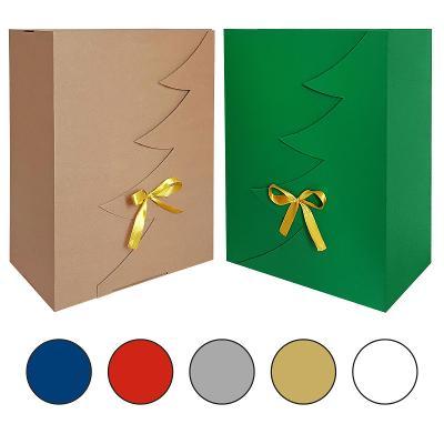 Dárková krabička Vánoce vánoční strom ECO 35 x 25 x 15 reklamní balení