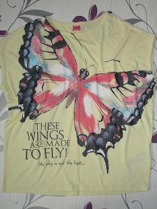 Hezké tričko Y.F.K. pro slečnu, velikost 146/152 - motýlí