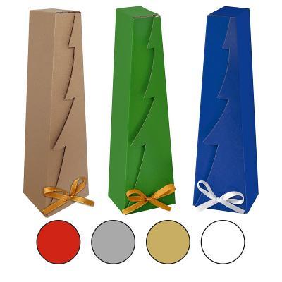 Dárková krabička Vánoce vánoční strom ECO 35 x 10 x 8 reklamní balení