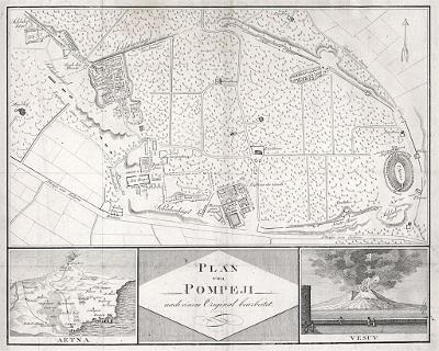 Pompeji, mědiryt, (1810)