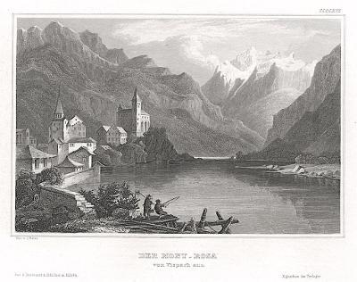 Monte Rosa, Meyer, oceloryt, 1850