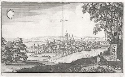 Časlav, Merian, mědiryt, 1650
