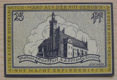 Bankovka Německo - Frankfurt; 25 pfennig; 1922; stav viz fota