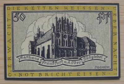 Bankovka Německo - Frankfurt; 50 pfennig; 1922; stav viz fota