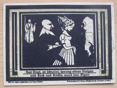 Bankovka Německo - Auerbach; 75 pfennig; 1921; stav viz fota