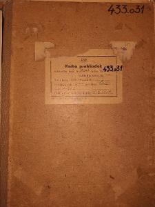 Kotelní knížka parní lokomotivy 433.031 ČSD