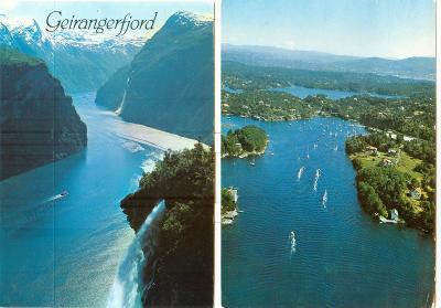 Norsko, hory, fjordy, ledovce, města, 16 ks