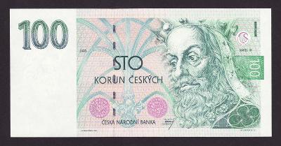 ČESKÁ REPUBLIKA  - 100 korun,1993 - serie A 31 - stav UNC