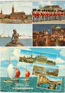 Dánsko, města, památky, přístavy, příroda, 16 ks