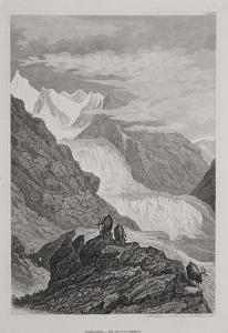 Rhone - Gletscher , Meyer, oceloryt, 1850