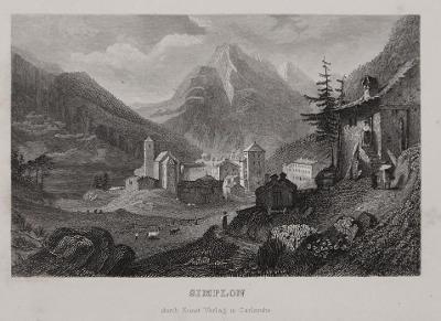 Simplon , oceloryt, 1850