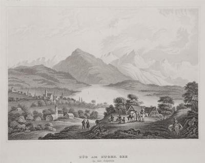 Zuger See, Meyer, oceloryt, 1850