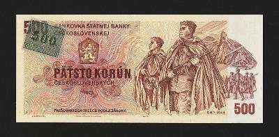 ČESKÁ REPUBLIKA - 500 korun,1993 - serie W 18  -  kolek  -  stav UNC