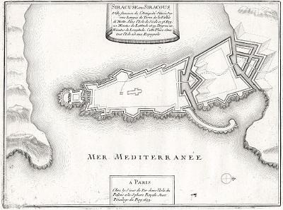Siracusa, N. de Fer, mědiryt, 1705
