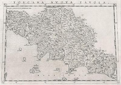 Toscana, Ruscelli, mědiryt, 1574