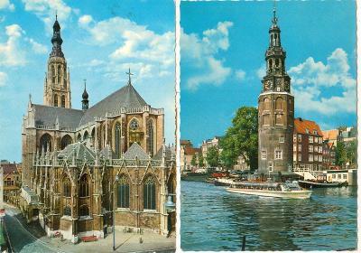 Holandsko, města, památky, přístavy, příroda, mlýny, 16 ks