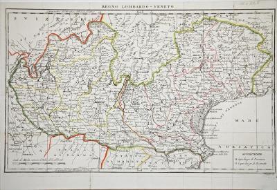 Lombardo - Veneto , Pasquali, mědiryt, (1800)