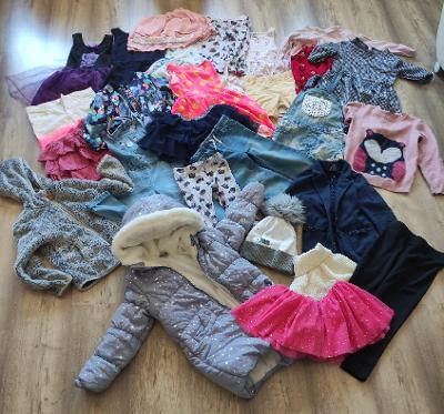 Krásný balík oblečení holka vel.122/128 včetně NOVÉ zimní bundy ..27ks