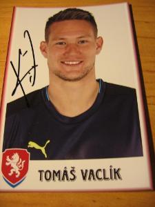 Tomáš Vaclík - ČR - orig. autogram