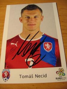 Tomáš Necid - ČR - orig. autogram