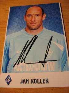 Jan Koller - Samara - orig. autogram