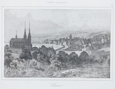 Luzern, Le Bas, oceloryt 1842