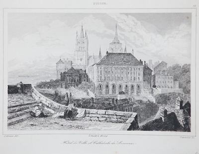 Lausanne, Le Bas, oceloryt 1842