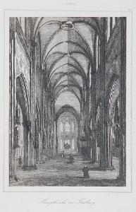 Freiburg chrám, Le Bas, oceloryt 1842