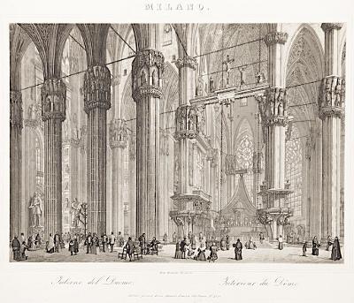 Milano Dom interier, akvatita , 1821