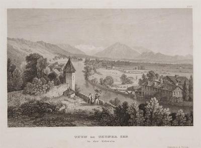 Thun am Thuner See, Meyer, oceloryt, 1850