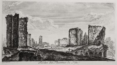 Roma Thermes de Tite, Bouchard, mědiryt, 1761