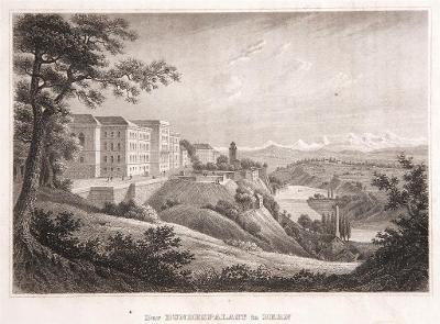 Bern Bundespalast, Meyer, oceloryt, 1850