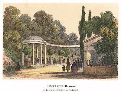Karlovy Vary Theresien, Sandmann, litografie, 1846