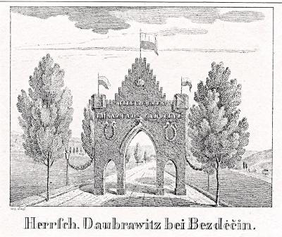 Doubravice (Nahořany) , Glasser, litografie, 1836