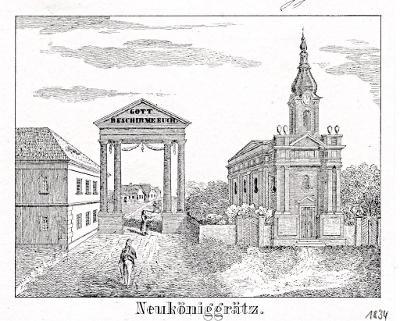 Hradec Králové IV. , Glasser, litografie, 1836