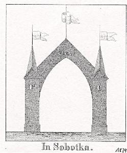 Sobotka brána, Glasser, litografie, 1836