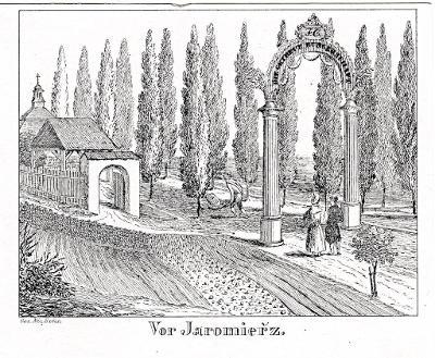 Jaroměř, Glasser, litografie, 1836