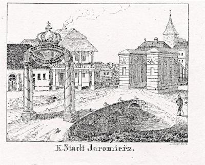 Jaroměř II., Glasser, litografie, 1836