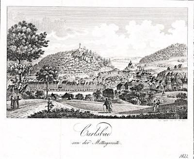 Karlovy Vary, Gerle, mědiryt, 1823
