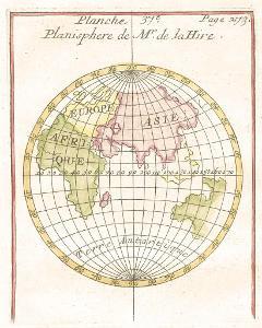 Planisphaere, kolor. mědiryt , (1780)