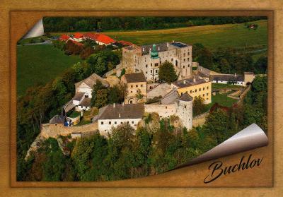 hrad Buchlov - letecký pohled
