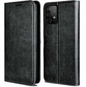 Samsung A52 / A52s, 4G 5G obal magnetické kryt SKIN 100% kůže skora11