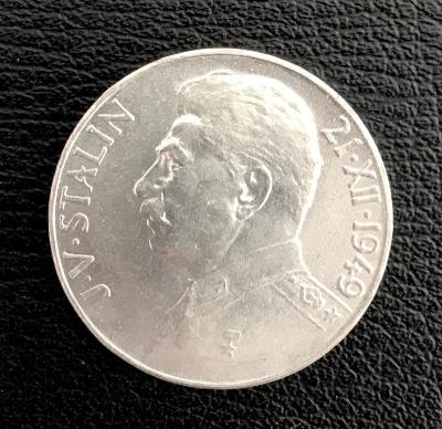 🌶Stříbrná mince 100 Kčs J.V. Stalin 70. výročí narození 1949