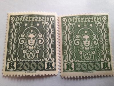ANK 1922 Frauenkopf č 405   barvy * od korunky !!!!