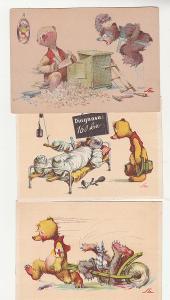 Salač, medvídci, 6 ks, luxusní stav